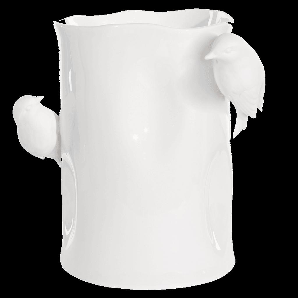 White Birds Vase