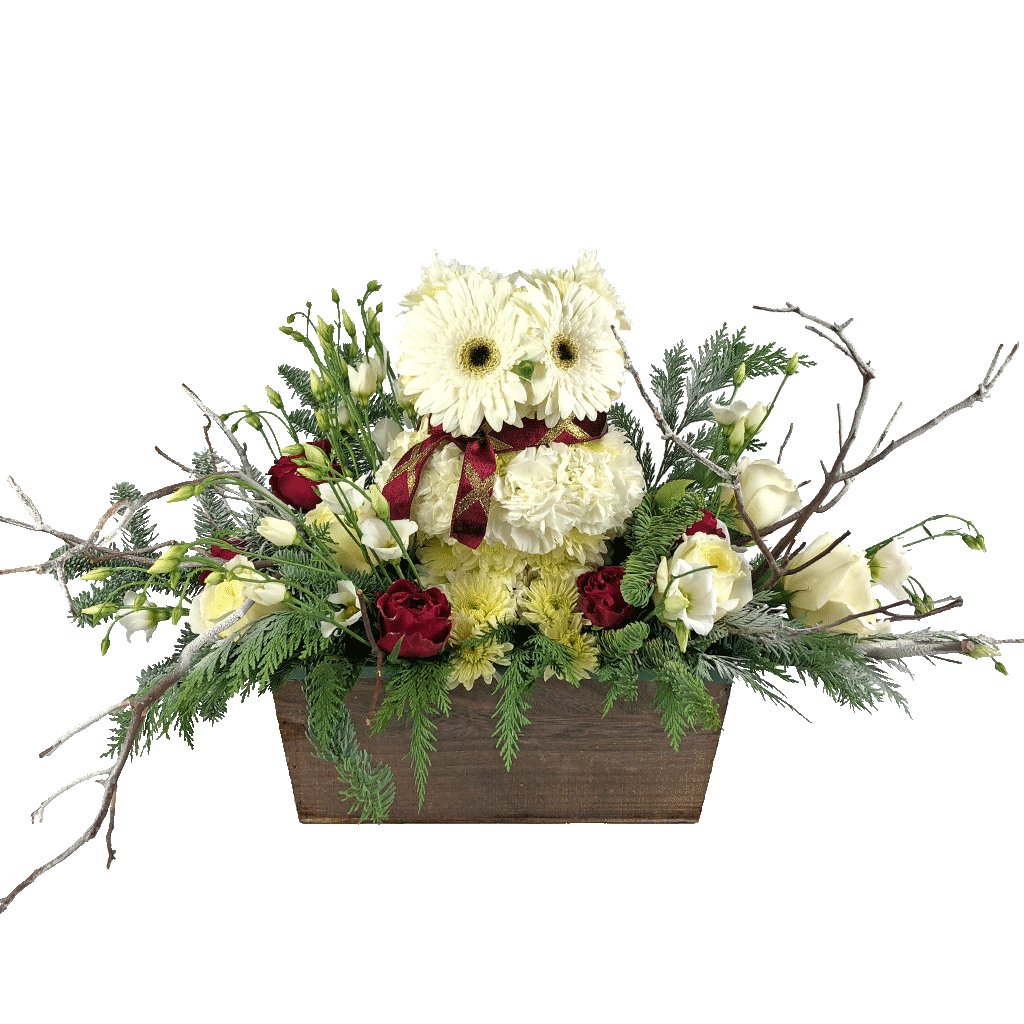 Hadwig The Snowy Owl Flower Arrangement Designed By Karin S Florist