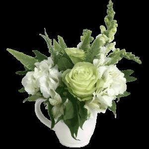 Green Tea Pitcher Bouquet