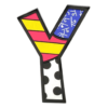 Letter Y Table Topper by Romero Britto