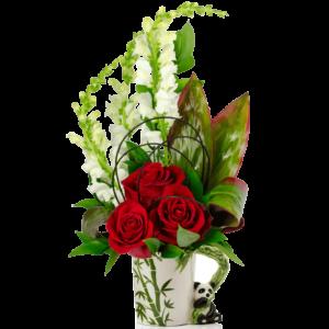 Perfect Panda Flower Mug