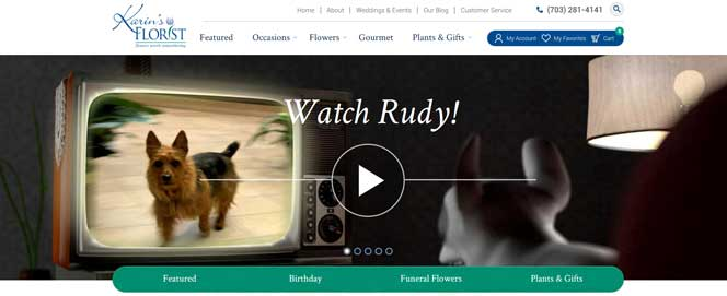 Rudy gos to Karin's florist