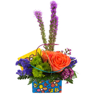 Britto Flower Keepsake Box Bouquet