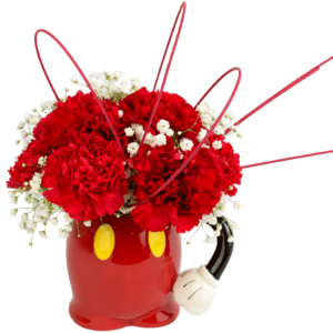 Mickey Mouse Pants Flower Mug