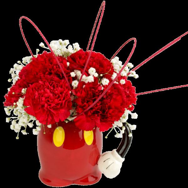 Mickey Mouse Pants Flower Mug