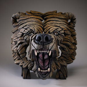 Bear Bust Sculpture