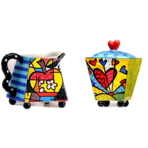 Romero Britto Creamer & Sugar Set