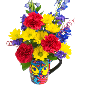 "Britto ""Deeply In Love"" Flower Mug"