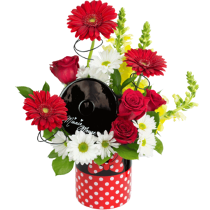 Minnie Mouse Cookie Jar Bouquet