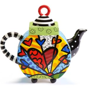 Romero Britto Ceramic Teapot