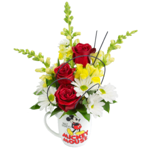 Vintage Mickey Mouse Mug Bouquet