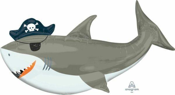 41 Jumbo Pirate Shark Party Balloon