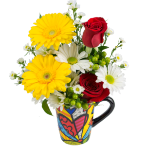 "Britto ""A New Day"" Flower Mug"
