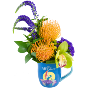 The Little Mermaid Flower Mug