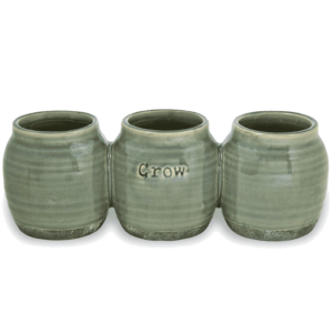 Three Attached Herb Pots