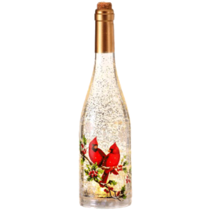 "15"" Cardinal Bottle Water Globe"