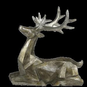 Sitting Resin Deer Figurine
