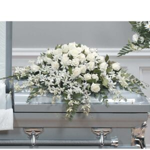 Orchids and Roses Half Casket Spray