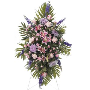 Purple and Pink Funeral Spray