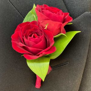 Red Hot Rose Boutonniere